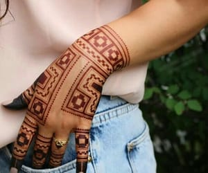 art, henna, and mehndi image