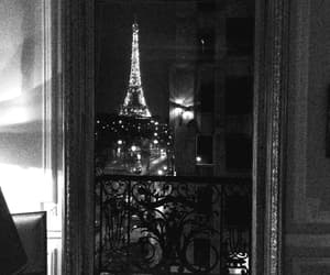 black and white, gif, and tour eiffel image
