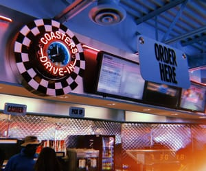 aesthetic, checkers, and diner image