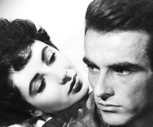Elizabeth Taylor, montgomery clift, and place in the sun image