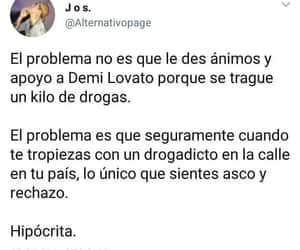 demi lovato, frases, and drogas image
