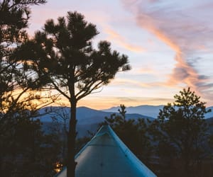 adventure, blue hour, and camp fire image
