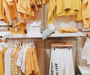 yellow, aesthetic, and closet image