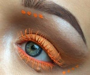 makeup, orange, and eye image