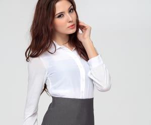 fashion, high-waist, and shirt image