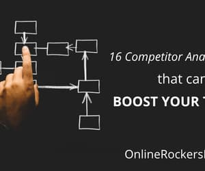 seo, competitor analysis tools, and blogging tips image