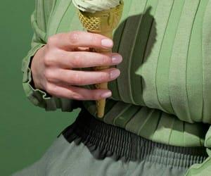 aesthetics, green, and ice cream image