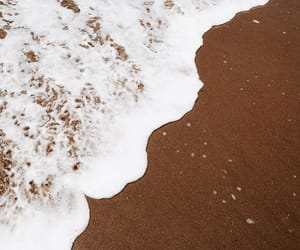 beach, sand, and sea foam image