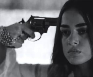 actress, gun, and tears image