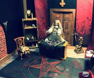 dark, satanic, and doll house image