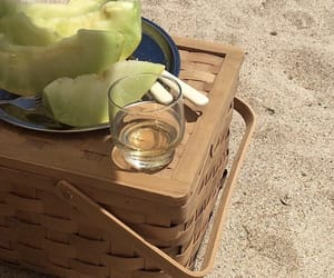 fruit, summer, and beach image