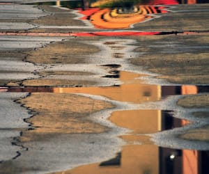 poetry, puddles, and reflection image