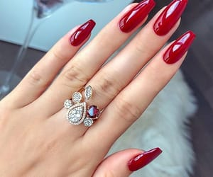nails, beauty, and red image