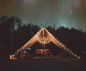 camping, lights, and vibes image