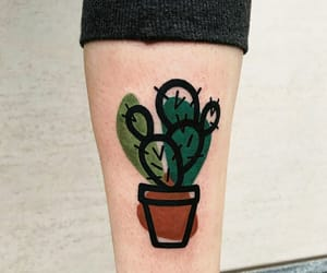 green, plants, and tattoo image