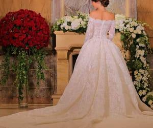 dress, elegant, and wedding image
