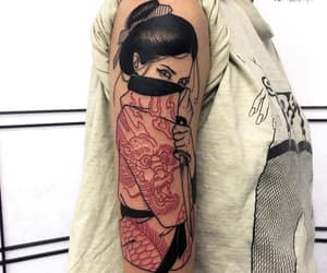 tattoo, girl, and art image