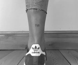 girl, leg, and letters image