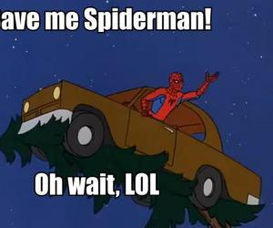 funny, spiderman, and lol image