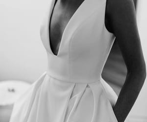 fashion, black and white, and girl image