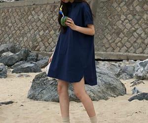 beach, kfashion, and korea image
