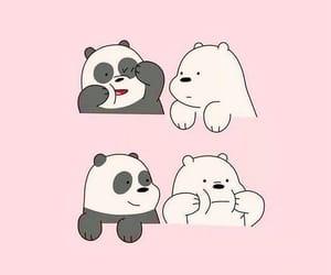 wallpaper, pink, and panda image