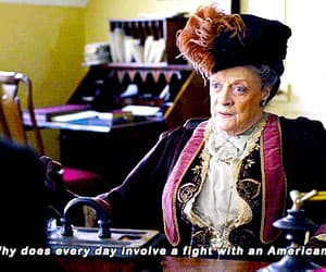 gif, maggie smith, and downton abbey image
