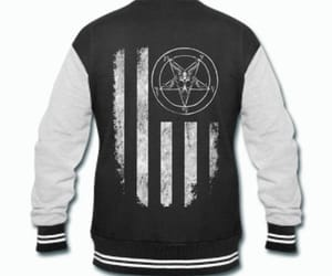 goth, sigil of baphomet, and gothic image