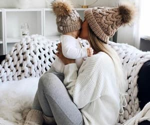 love, baby, and winter image