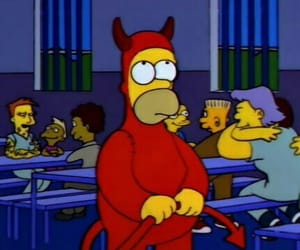 Devil, simpsons, and homer image