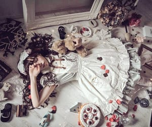 alice, alice in wonderland, and bed image
