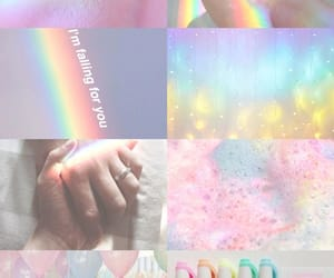 aesthetic, Collage, and rainbow image