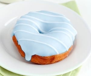 blue, donuts, and food image