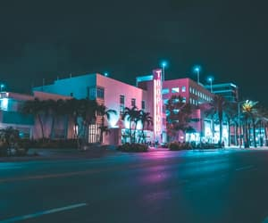 80s, glow, and Miami Beach image