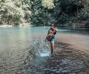 girl, tumblr, and cachoeira image