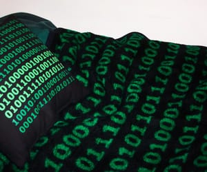 aesthetic, green, and matrix image