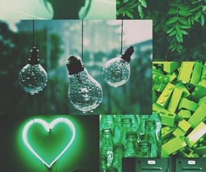 Collage, grainy, and green image
