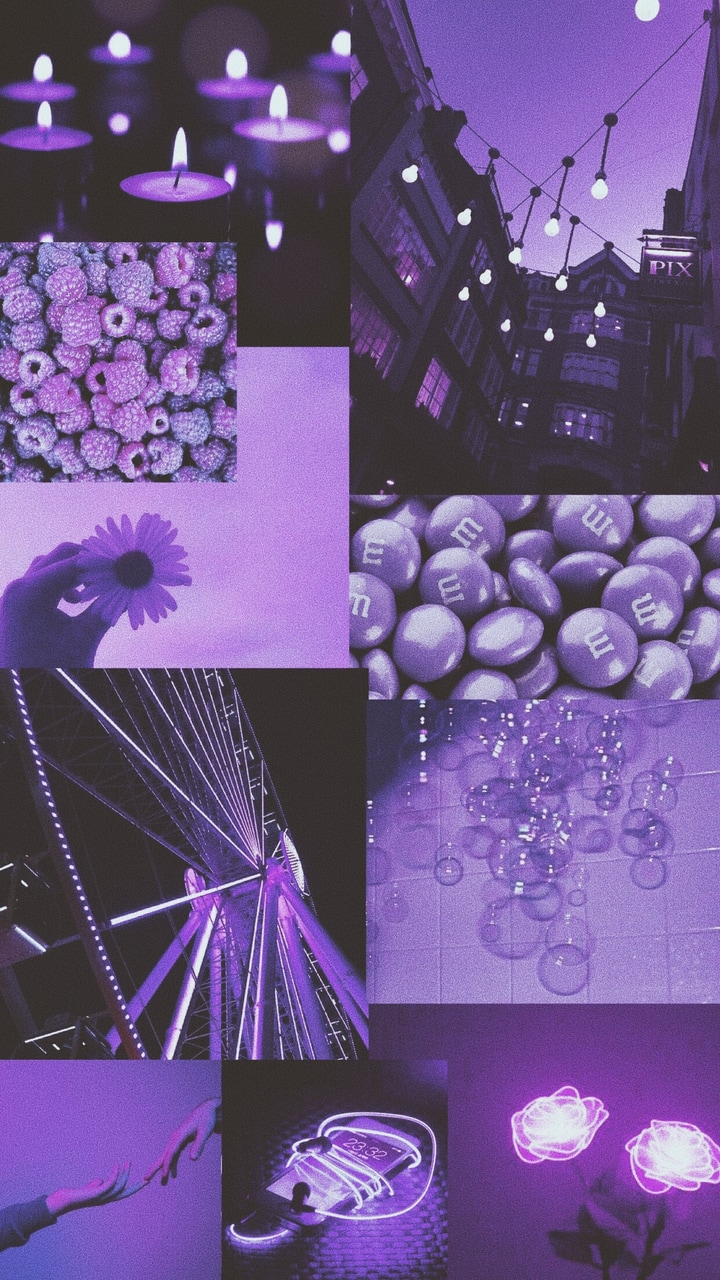 Purple Wallpaper Collage Made By Me On We Heart It