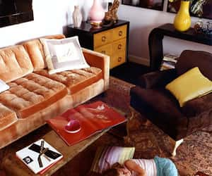 70s, couch, and orange image