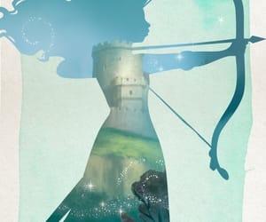 bow, merida, and pixar image