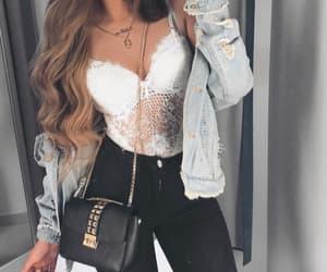 bag, black jeans, and fashion image