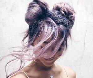 pink, purple, and buns image