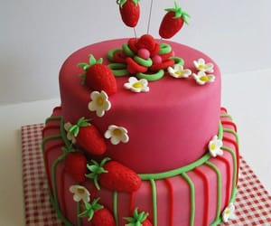 cake and strawberry shortcake image