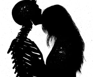 black and white, dark, and digital art image