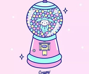 bubble gum, candy, and creamy image