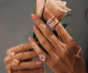 beuty, flowers, and nails image