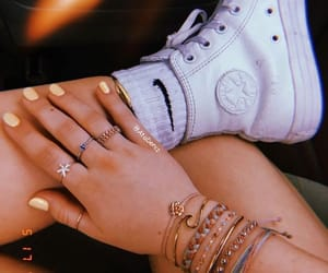 converse, nails, and sneakers image