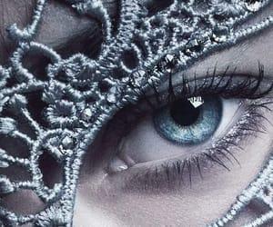 blue eye, eye, and mask image