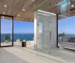 bathroom, luxury, and sea image