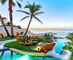 dream house, pool, and paradise image